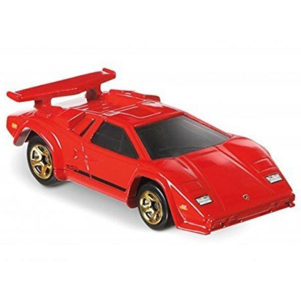 Carrinho Hot Wheels: Lamborghini Countach Vermelho
