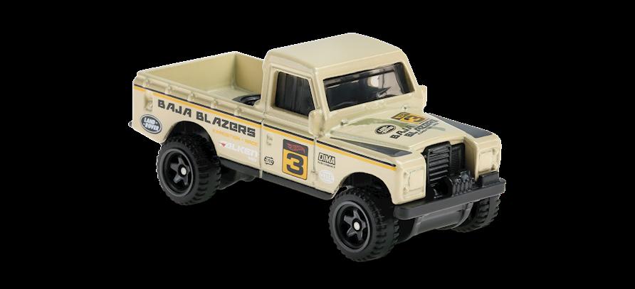 Carrinho Hot Wheels: Land Rover Series III Pickup - ( Baja Blazers ) - 7KVRB