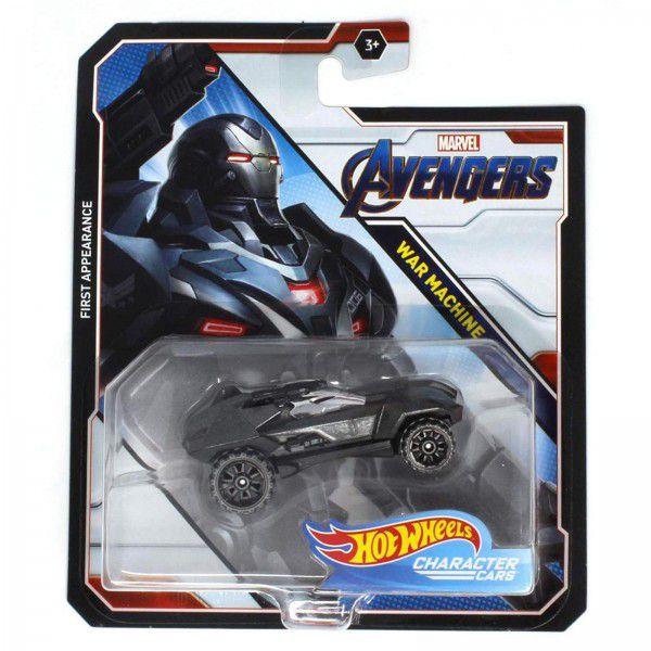 Carrinho Hot Wheels Máquina de Guerra (War Machine): Vingadores (Avengers) - Mattel