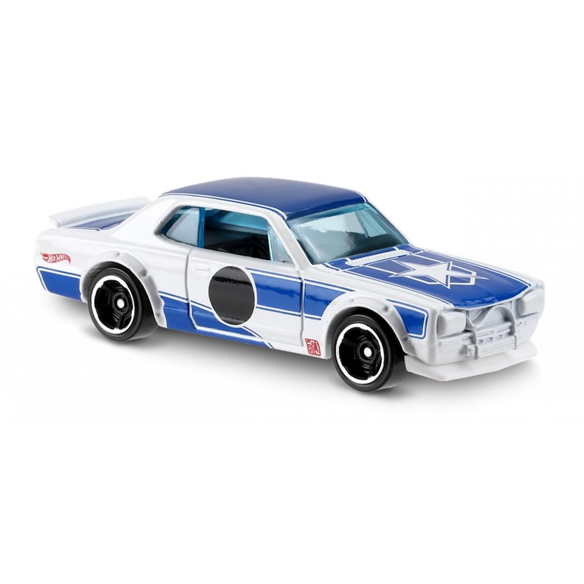 Carrinho Hot Wheels: Nissan Skyline H/T 2000GT-X Branco e Azul