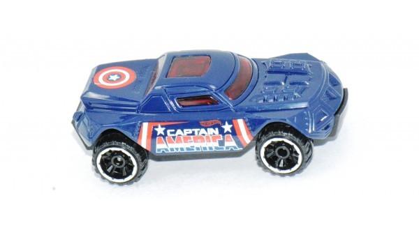 Carrinho Hot Wheels: RD-08: Capitão América Azul