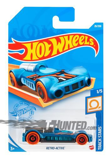 Carrinho Hot Wheels Retro-Active Track Stars - Mattel