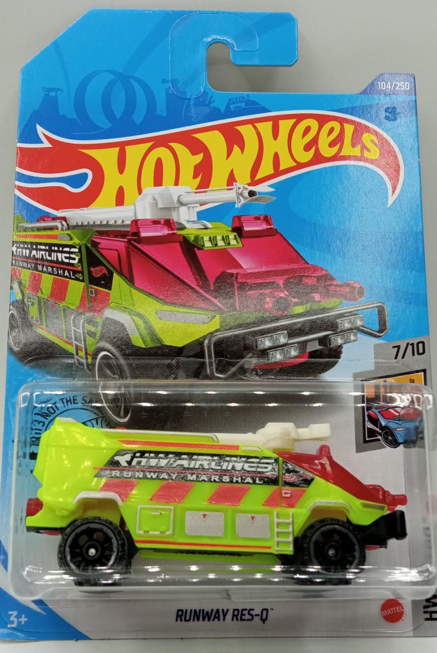 Carrinho Hot Wheels Runway Res-Q (JIHY5) HW Metro - Mattel