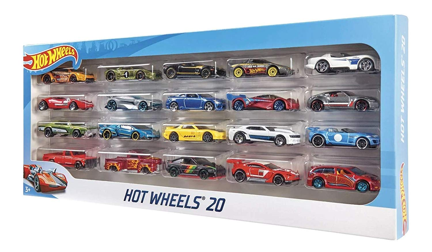 Carrinho Hot Wheels (Set com 20 Carros Sortidos) - Hot Wheels