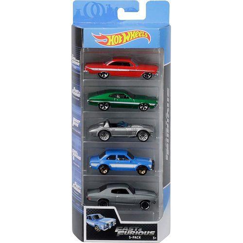 Carrinho Hot Wheels (Set com 5 Carros) Fast & Furious (Velozes e Furiosos) - Mattel