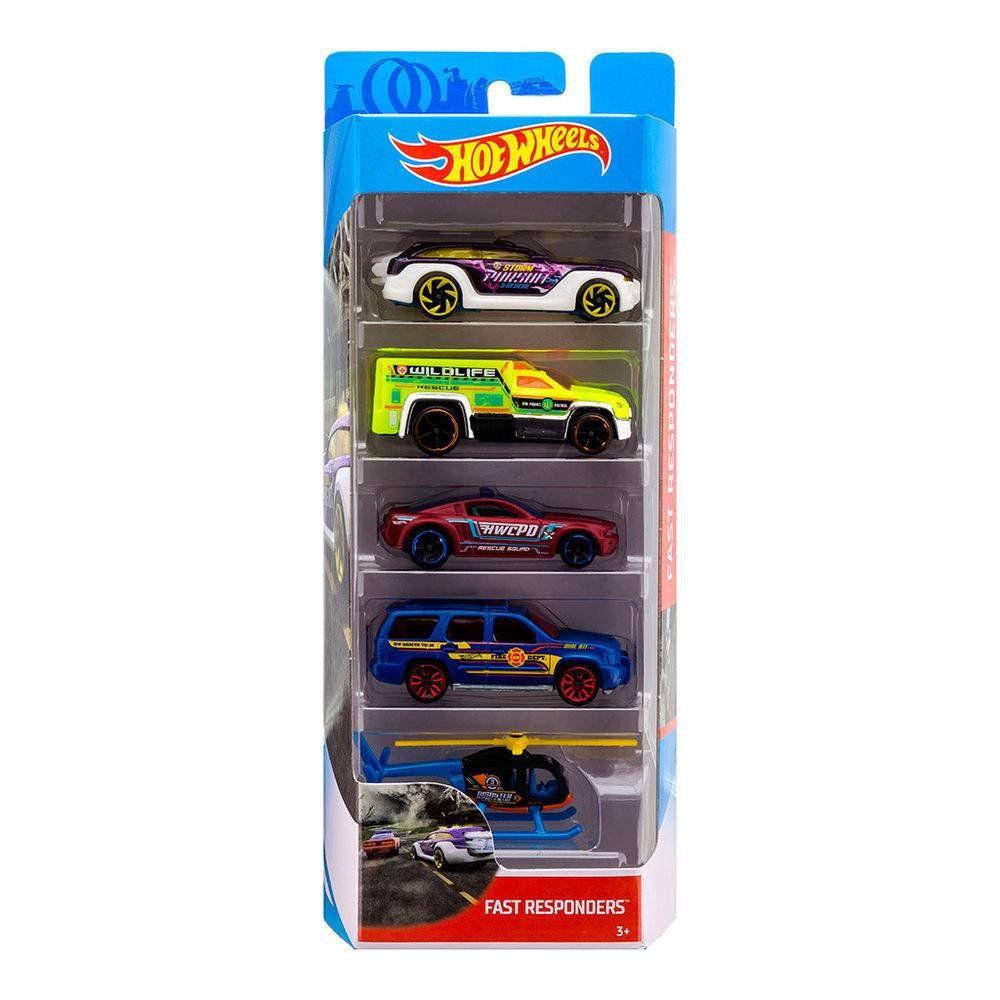 Carrinho Hot Wheels (Set com 5 Carros) Fast Responders (FKT58) - Mattel