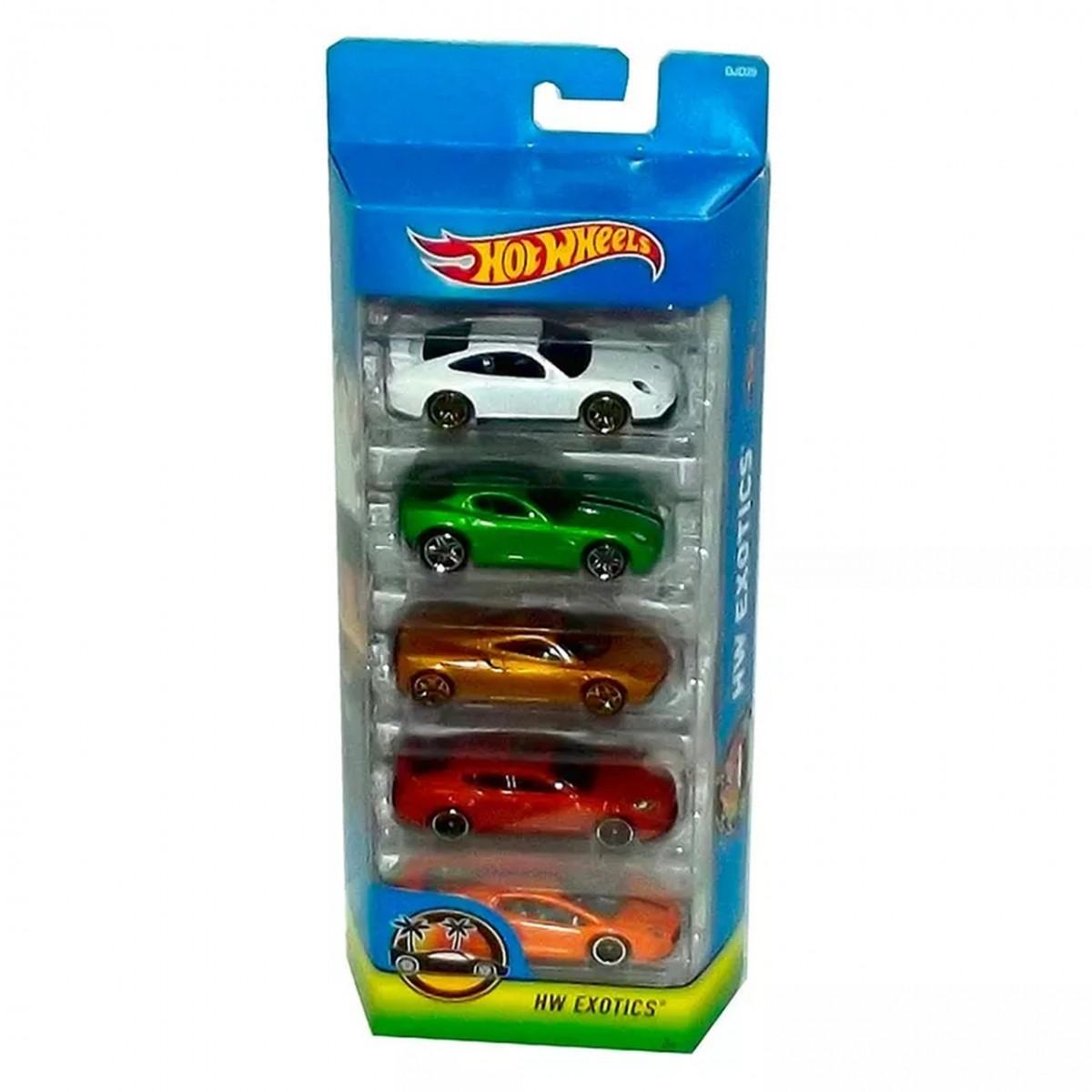 Carrinho Hot Wheels (Set com 5 Carros) HW Exotics (A)