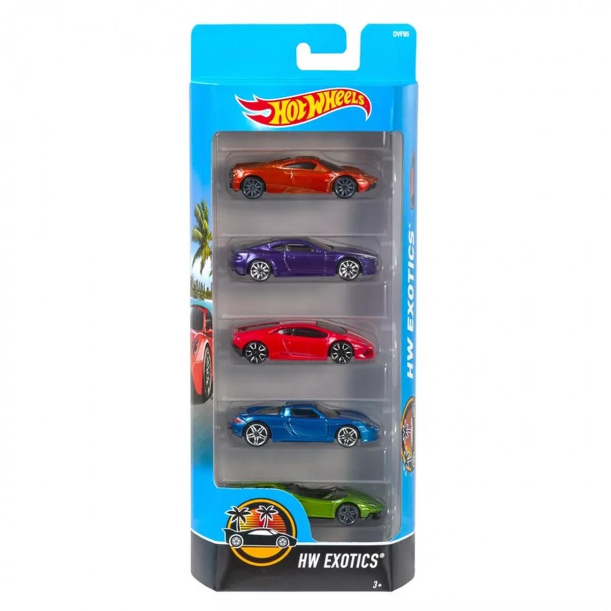 Carrinho Hot Wheels (Set com 5 Carros) HW Exotics (B)