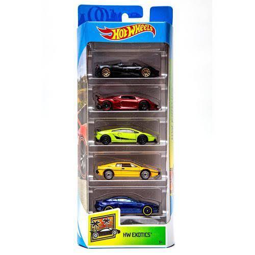 Carrinho Hot Wheels (Set com 5 Carros) Hw Exotics - Mattel