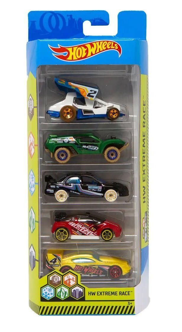 Carrinho Hot Wheels (Set com 5 Carros) Hw Extreme Race - Mattel