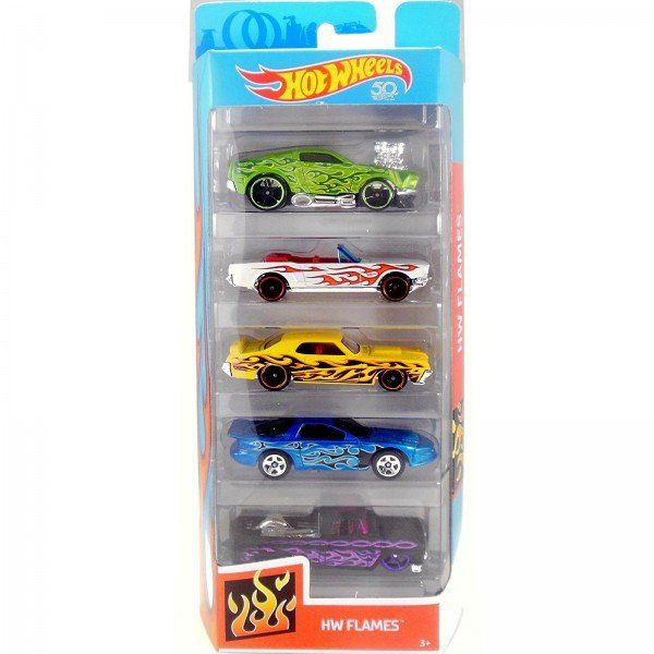 Carrinho Hot Wheels (Set com 5 Carros) HW Flames (FKT64) - Mattel