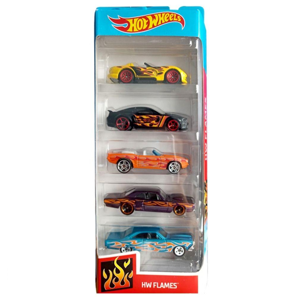 Carrinho Hot Wheels (Set com 5 Carros) Hw Flames - Mattel