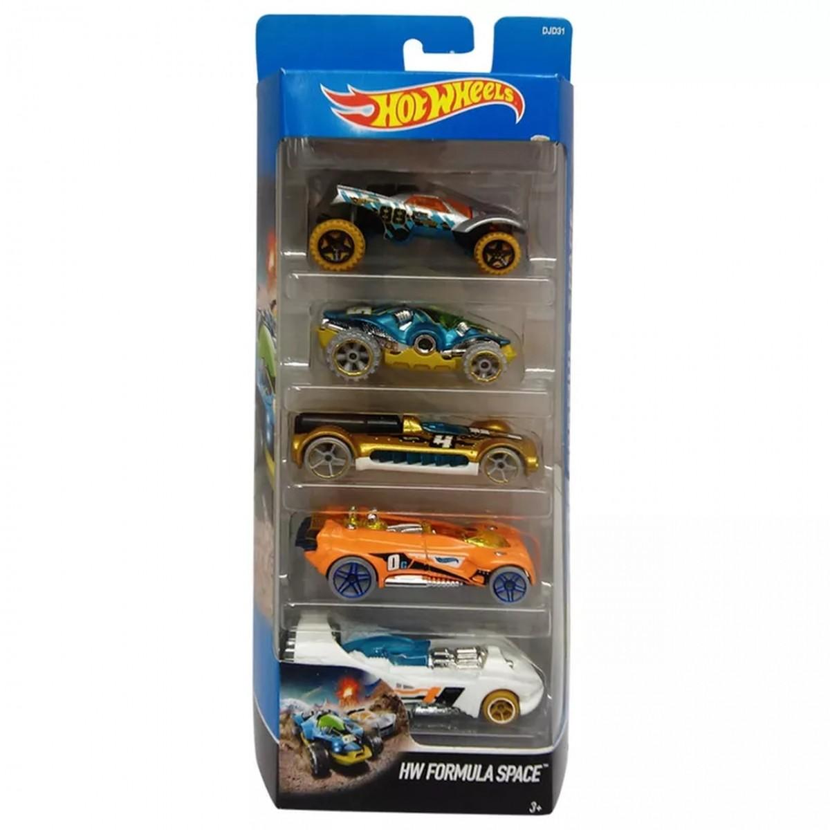 Carrinho Hot Wheels (Set com 5 Carros) HW Fórmula Space