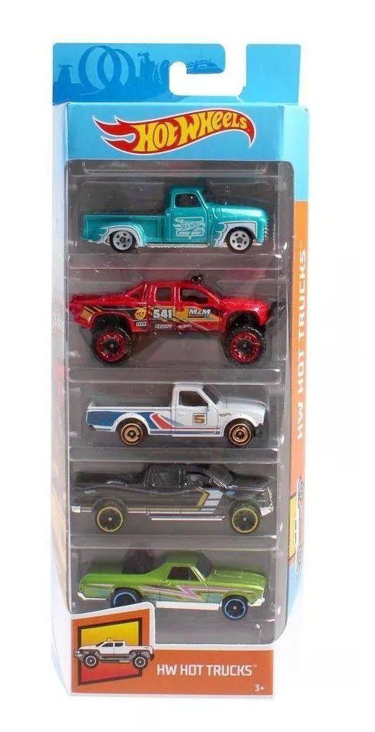 Carrinho Hot Wheels (Set com 5 Carros) Hw Hot Trucks - Mattel