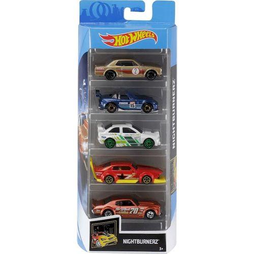 Carrinho Hot Wheels (Set com 5 Carros) Nightburnez (FYL12) - Mattel