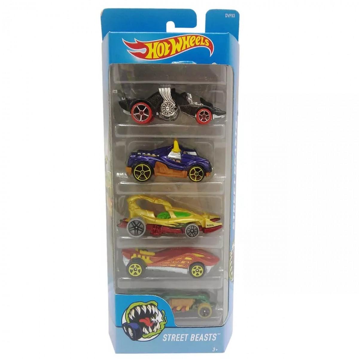 Carrinho Hot Wheels (Set com 5 Carros) Street Beasts