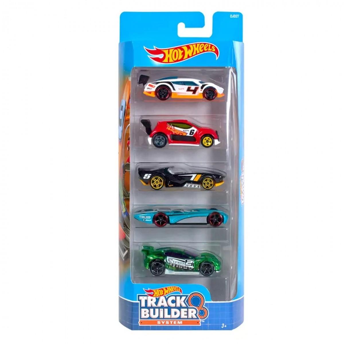 Carrinho Hot Wheels (Set com 5 Carros) Track Builder System (B)