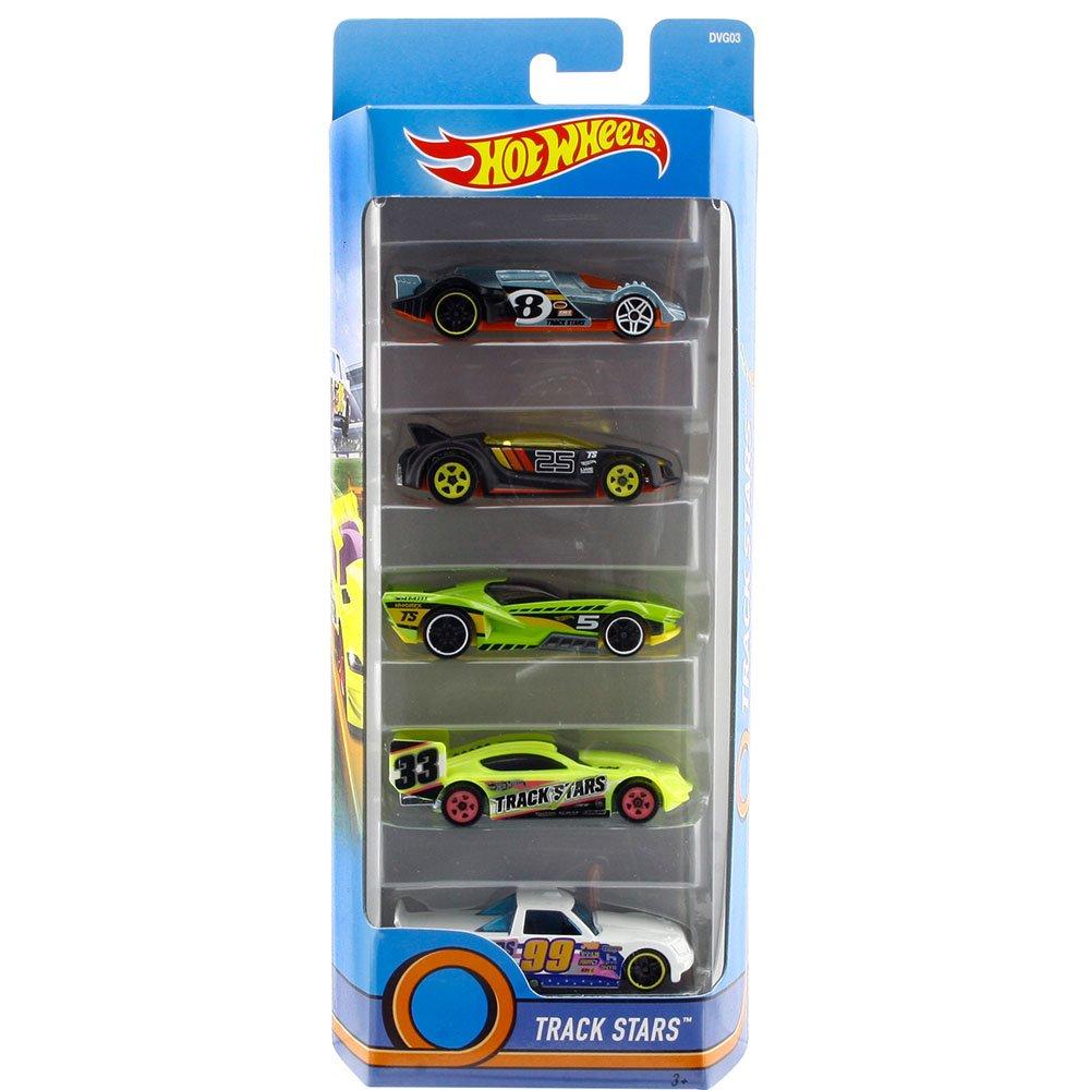 Carrinho Hot Wheels (Set com 5 Carros) Track Stars (DVG03) - Mattel