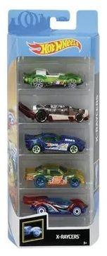 Carrinho Hot Wheels (Set com 5 Carros) X-Raycers (FKT65) - Mattel