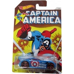 Carrinho Hot Wheels: Sir Ominous: Capitão América Azul