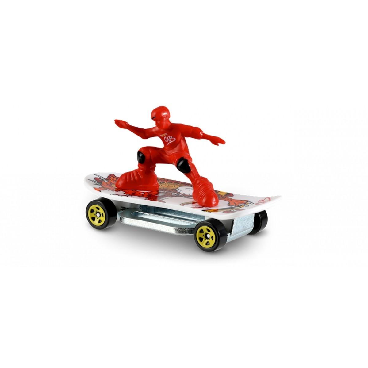 Carrinho Hot Wheels: Skate Brigade Branco e Vermelho