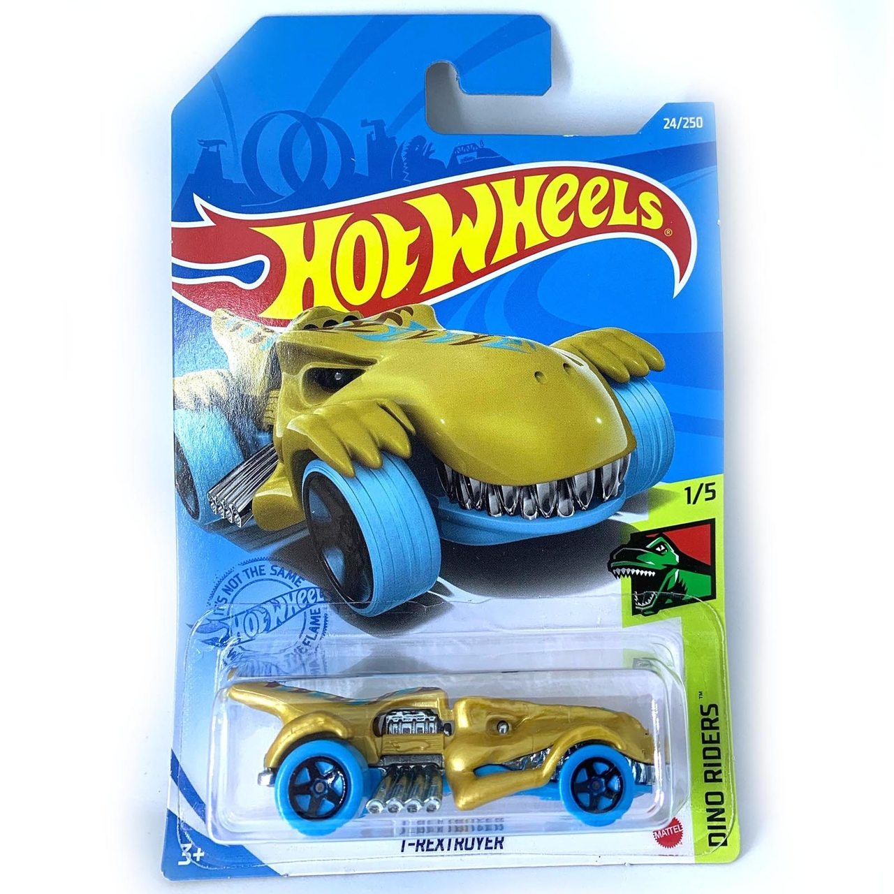Carrinho Hot Wheels T-Rextroyer Dino Riders - Mattel