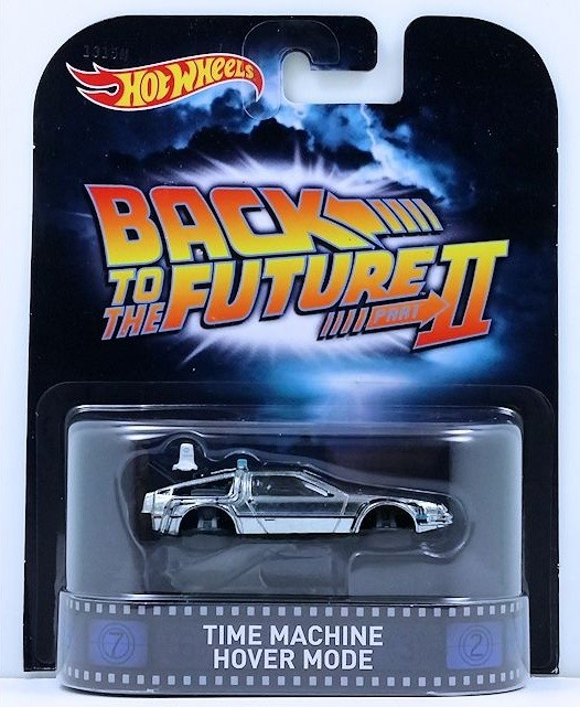 Carrinho Hot Wheels: Time Machine Hover Mode: De volta para o Futuro (Back to the Future) Prata