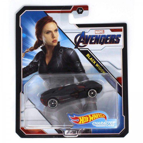 Carrinho Hot Wheels Viúva Negra (Black Widow): Vingadores (Avengers) - Mattel