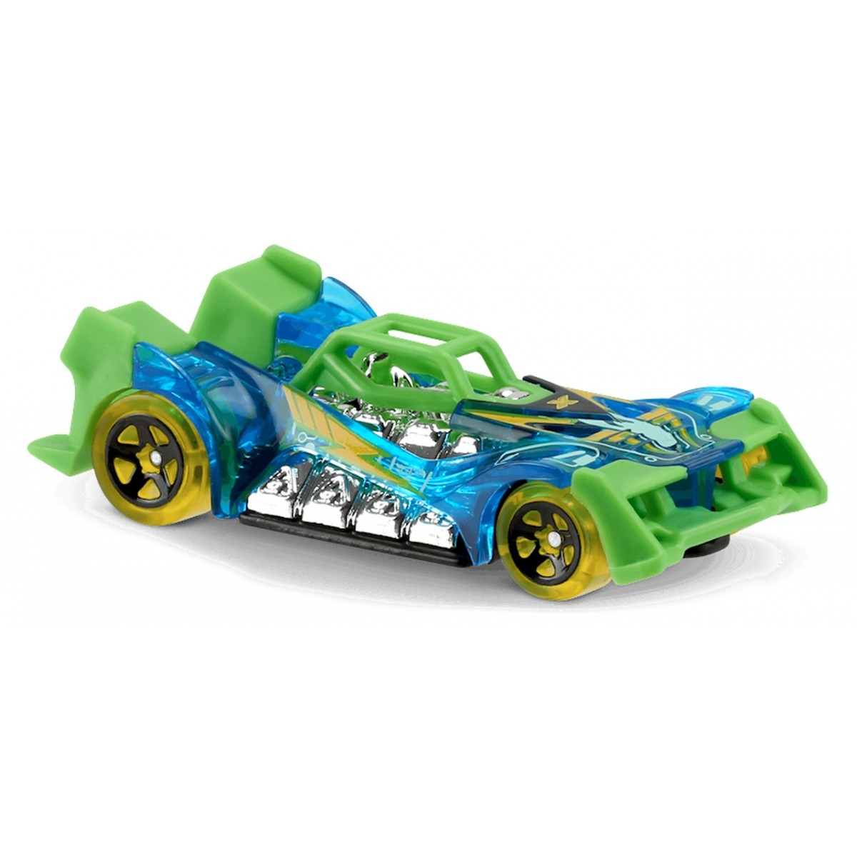 Carrinho Hot Wheels: Voltage Spike Azul e Verde