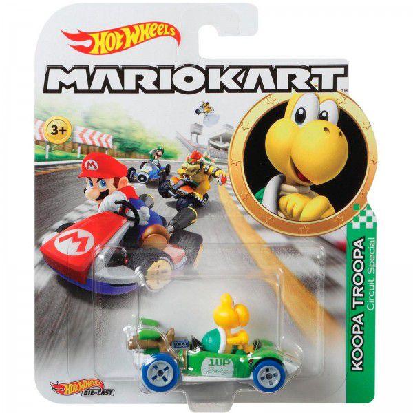 Carrinho Koopa Troopa (Circuit Special): Mario Kart - Hot Wheels