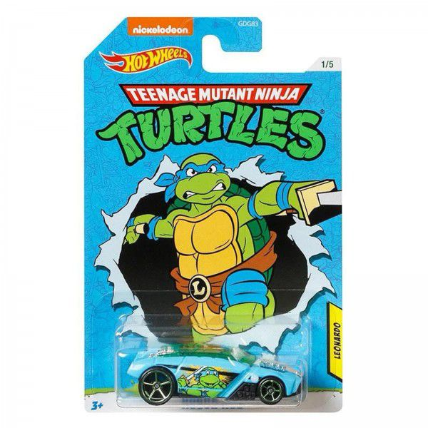 Carrinho Leonardo (Rogue Hog): Tartarugas Ninja (Teenage Mutant Ninja Turtles) - Hot Wheels