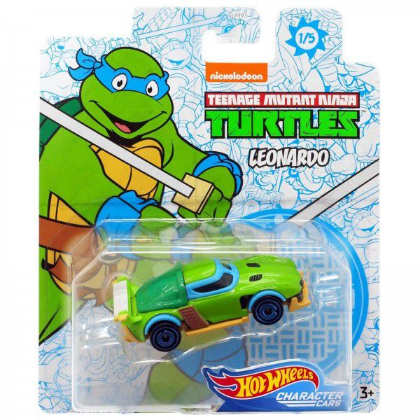Carrinho Leonardo: Tartarugas Ninja (Teenage Mutant Ninja Turtles) GJJ03 - Hot Wheels