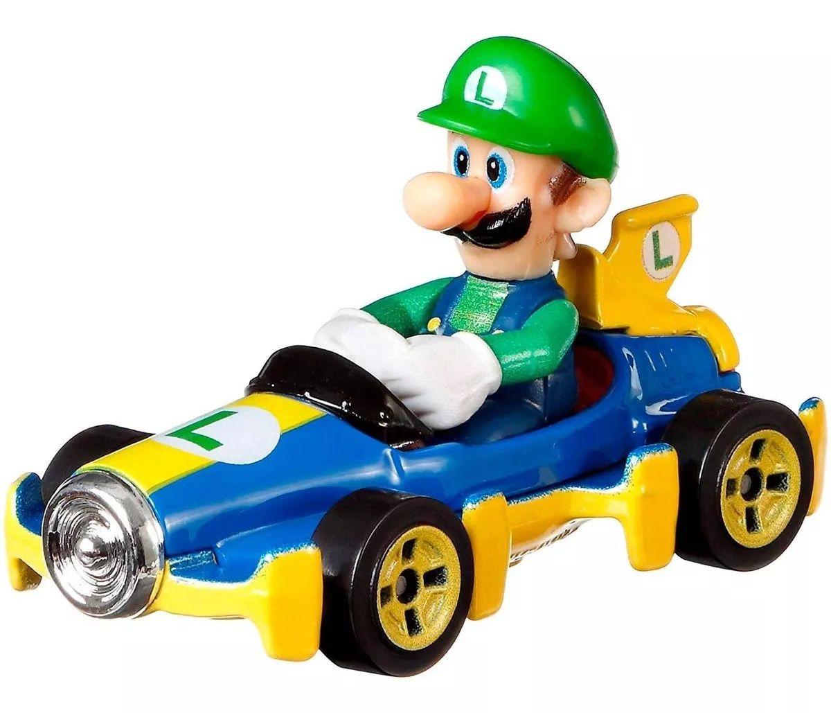 Carrinho Luigi (Mach 8): Mario Kart - Hot Wheels