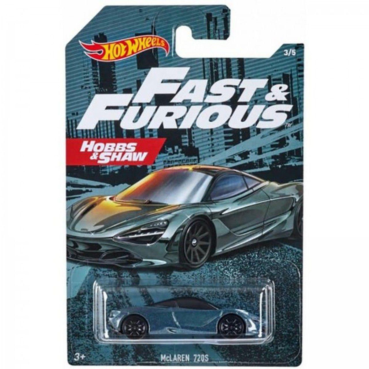 Carrinho McLaren 720s: Velozes e Furiosos Hobbs & Shaw (Fast & Furious) - Hot Wheels