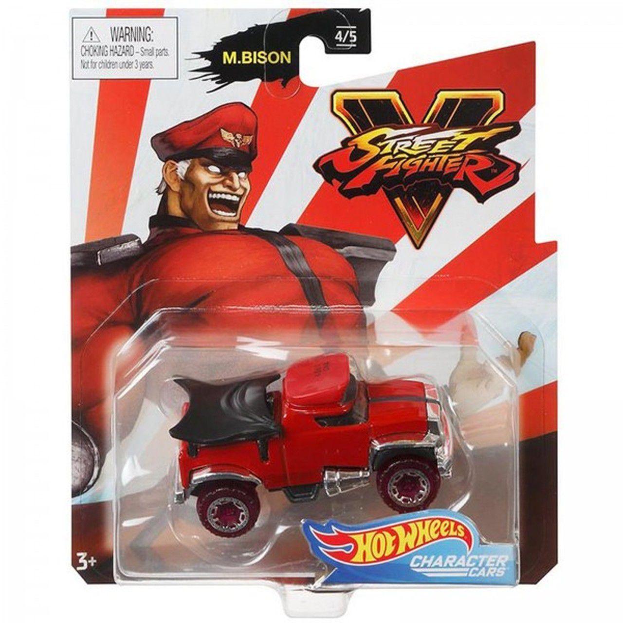 Carrinho Mr Bison: Street Fighter V - Hot Wheels