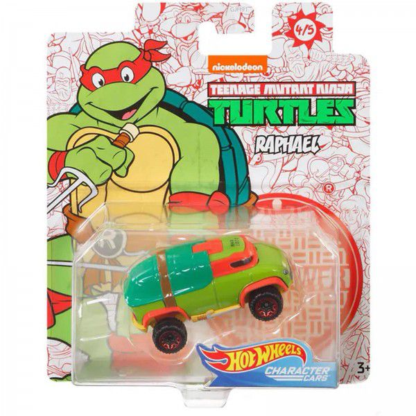 Carrinho Raphael: Tartarugas Ninja (Teenage Mutant Ninja Turtles) GJJ06 - Hot Wheels