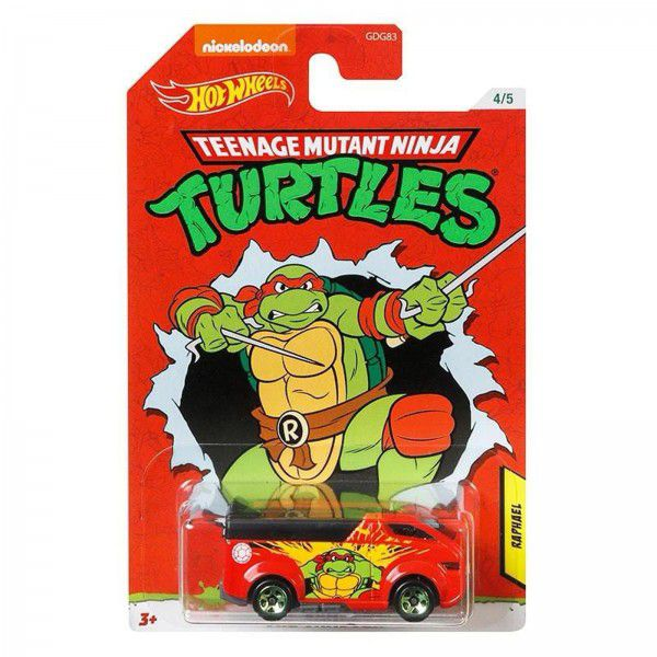 Carrinho Raphael (The Vanster): Tartarugas Ninja (Teenage Mutant Ninja Turtles) - Hot Wheels