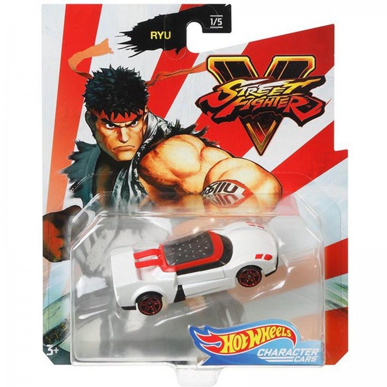 Carrinho Ryu: Street Fighter V - Hot Wheels