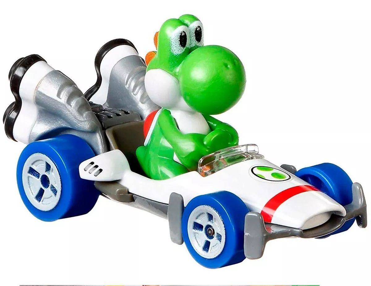 Carrinho Yoshi (B Dasher): Mario Kart - Hot Wheels