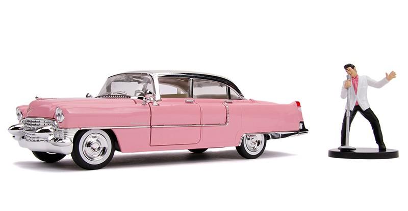 Carro Com Boneco Elvis & 1955 Cadillac Fleetwood: Hollywood Rides (Die Cast Figure) Escala 1/24 - Jada Toys