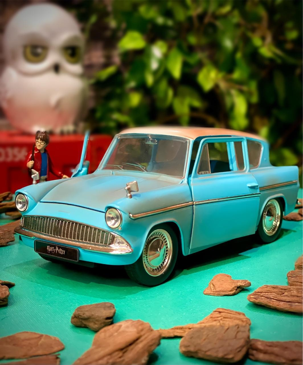 Carro Com Boneco Harry Potter & 1959 Ford Anglia: Harry Potter (Die Cast Figure) Escala 1/24 - Jada Toys