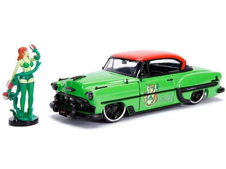 Carro Com Boneco Poison Ivy & 1953 Chevy Bel Air: DC Comics (Die Cast Figure) Escala 1/24 - Jada Toys
