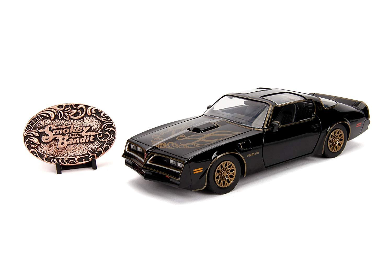 Carro Com Brasão Colecionável 1977 Pontiac Firebird: Smokey And The Bandit (Die Cast Figure) Escala 1/24 - Jada Toys