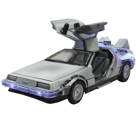 Carro DeLorean ''Time Machine'': De Volta Para o Futuro Parte II (Die Cast Figure) Escala 1/24 - Jada Toys