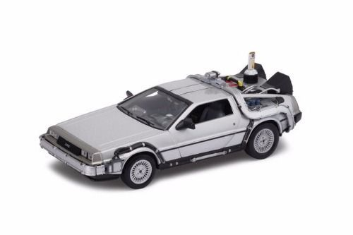 Carro DeLorean ''Time Machine'': De Volta Para o Futuro Parte II (Die Cast Figure) Escala 1/32 - Jada Toys