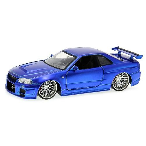 Carro Nissan Skyline GT-R (BNR34) ''Brian's'': Velozes e Furiosos (Die Cast Figure) Escala 1/24 - Jada Toys