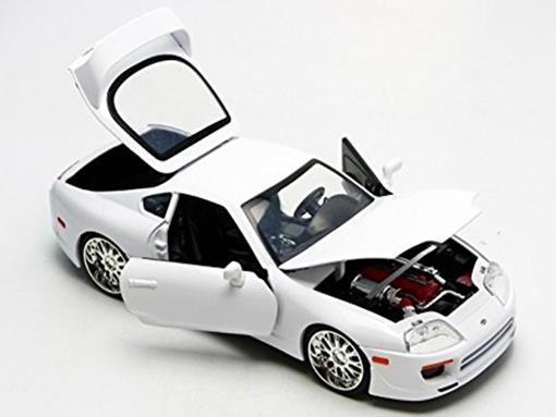 """Carro Toyota Supra """"Brian's"""": Velozes e Furiosos (Die Cast Figure) Escala 1/24 - Jada Toys"""