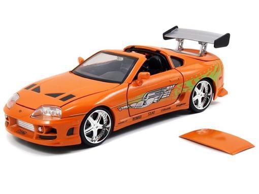 Carro Toyota Supra ''Brian's'': Velozes e Furiosos (Die Cast Figure) Escala 1/24 - Jada Toys