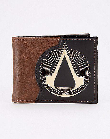 Carteira Couro: Assassin's Creed Live com Símbolo Grande