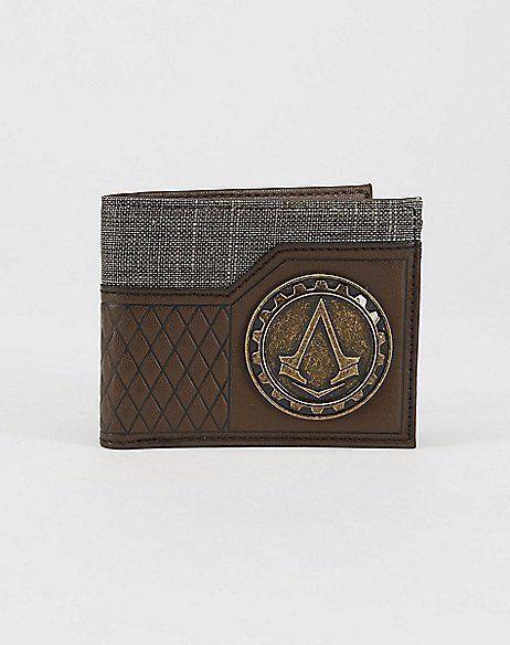 Carteira Couro: Assassin's Creed Logo em Metal com Símbolo Pequeno